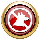 Icona di cani proibiti — Foto Stock