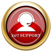 24-7 Support icon — Foto de Stock