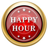 Happy hour icon — Stok fotoğraf