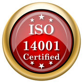 ISO14001 icon — Foto de Stock