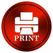 Printer with word PRINT icon — Stock Photo #34300909