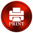 Stock Photo: Printer with word PRINT icon