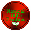 100 percent natural product icon — Lizenzfreies Foto