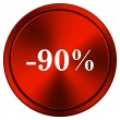 90 percent discount icon — Stock Photo #34301977