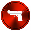 Stock Photo: Gun icon