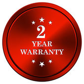 2 year warranty icon — 图库照片