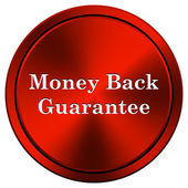 Money back guarantee icon — Foto de Stock