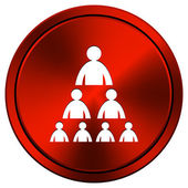 Organizational chart with people icon — Foto Stock