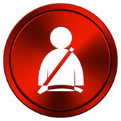 Safety belt icon — Stock Photo