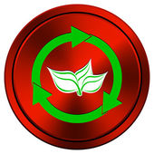 Recycle arrows icon — Stock Photo