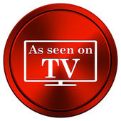 As seen on TV icon — Fotografia Stock