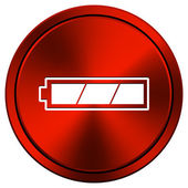 Fully charged battery icon — Stock Photo