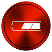 2 thirds charged battery icon — Stok fotoğraf