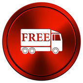 Free delivery truck icon — Stock Photo