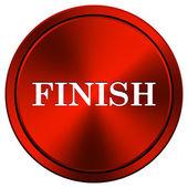 Finish icon — Stock Photo