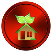 Eco house icon — Stock Photo