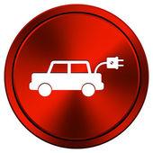 Electric car icon — Stock Photo