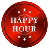 Happy hour icon — Stock Photo
