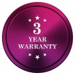 3 year warranty icon — 图库照片