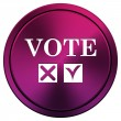 Stock Photo: Vote icon