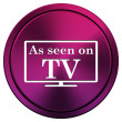 As seen on TV icon — Stock Photo #34516653
