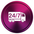 24 7 delivery truck icon — Stock fotografie