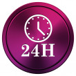24H clock icon — Stockfoto