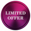 Limited offer icon — Stock fotografie
