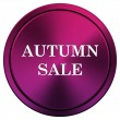 Stock Photo: Autumn sale icon
