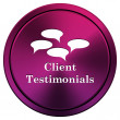 Stock Photo: Client testimonials icon