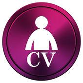 CV icon — Stock Photo