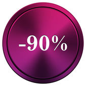 90 percent discount icon — Foto de Stock