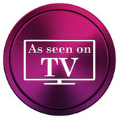 Wie im tv symbol gesehen — Stockfoto