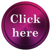 Click here icon — Stock Photo