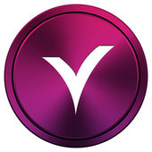 V 检查图标 — 图库照片
