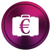 Euro bag icon — Stock Photo
