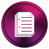 Document icon — Stock Photo