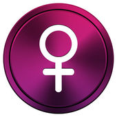 Female sign icon — Stock Photo