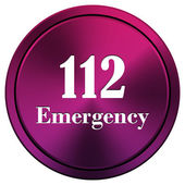 112 Emergency icon — 图库照片
