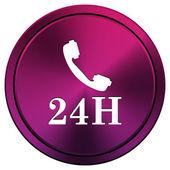 24H phone icon — Stock Photo