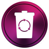 Recycle bin icon — Foto de Stock