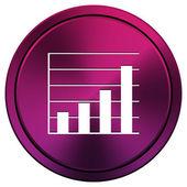 Chart bars icon — Stock Photo