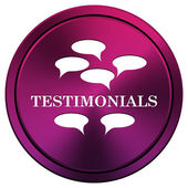 Testimonials icon — Stock Photo