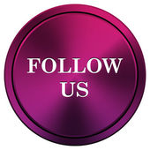 Follow us icon — Foto de Stock