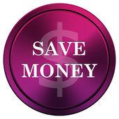 Salvar o ícone de dinheiro — Fotografia Stock