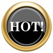 Hot icon — Stock Photo
