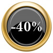Stock Photo: 40 percent discount icon