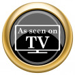 As seen on TV icon — Stock Photo #34728247