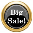 Big sale icon — Stock Photo #34728375