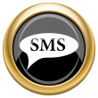 SMS bubble icon — Stock Photo